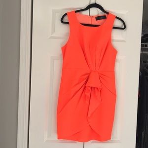 Bright orange dress! Only worn once!